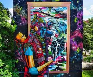 Vibrant Mural by Street Artist DEIH in Berlin