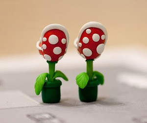 Super Mario Piranha Earrings