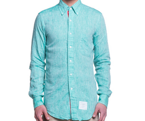 THOM BROWNE Classic Shirt Emerald