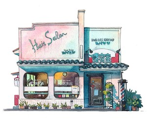 Great Illustrations of Old Tokyo Shopfronts