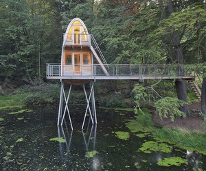 The Tree House Over The Pond