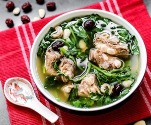 Watercress with Pork Rib Soup