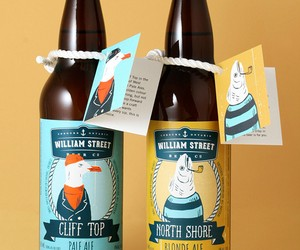"Maritimes Packaging Design: Seagull & Fish for ""Wi"
