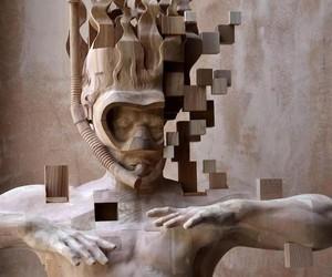 """""""Wooden Glitches"""" - Sculptures by Hsu Tung Han"""