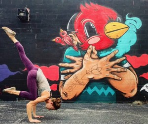 Yoga Poses in Front of Vibrant Graffiti Walls