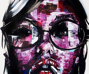 Abstract portraits in street art style of Joseph L