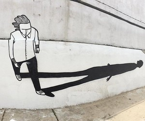 Street Art in black and white
