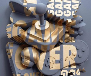 """Anamorphic"": Digitally distorted world of letters"