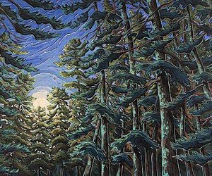 Illustrated Canadian wilderness in paintings