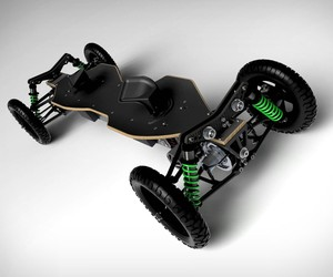 Off-road BajaBoard with powerful electric motor
