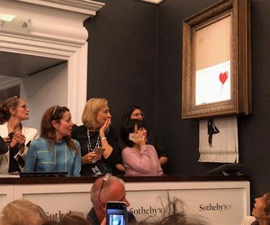 Banksy Artwork Self-destructs at Sotheby's