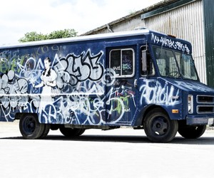 Banksy's Graffiti Van to Auction at Bonhams