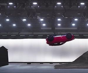 The Jaguar E-Pace performs a Barrel Roll