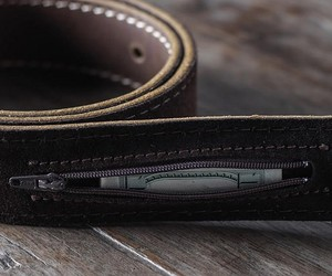 Secret Stash Leather Belt