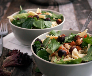 Warm Pasta Salad with Savoury Hazelnuts
