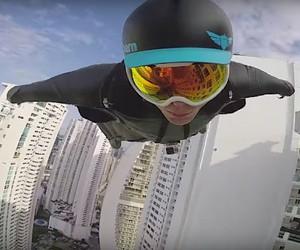 Wingsuit Flight Between Skyscrapers with Brandon M