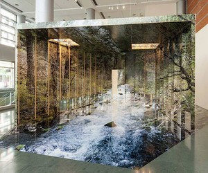 Chris Engman papered rooms with landscapes