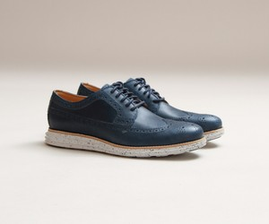 Cole Haan Lunargrand Long Wingtip (Blazer Blue)