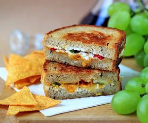 Crispy Chili Pepper Grilled Cheese Sandwich