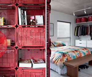 Unique Interiors: Crates as Room Dividers