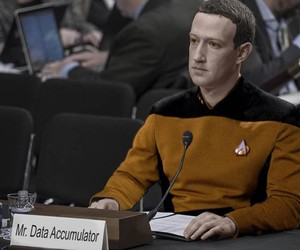 Mark Zuckerberg is Data from Star Trek
