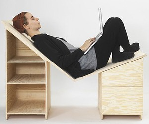 Angled Lounge Desk Design