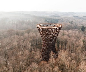 This ornate lookout tower is barrier-free