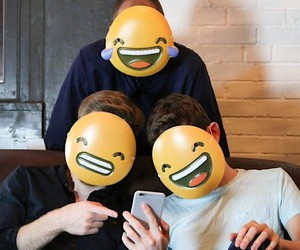 Emotions show with the emoji masks