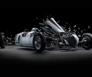 Fabian Oefner's Exploded Iconic Sports Cars
