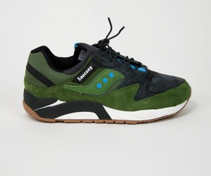 Saucony Grid 9000 Green Charcoal by Heritage Store