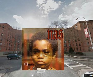 Iconic Hip Hop Albums in Google Street View