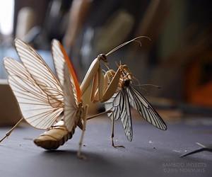 Crawling bamboo: insect figures by Noriyuki Saitoh