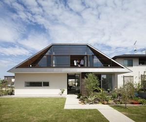 Contemporary Japanese Large Hip Roof Home