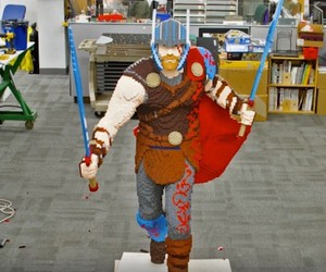 Lego is building a life-size Thor figure