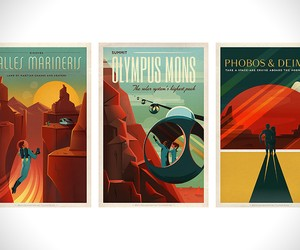 SpaceX Retro Mars Tour Posters