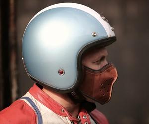 Slim Leather Motorcycle Mask