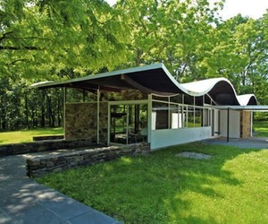 Curved Roof Home in New Jersey