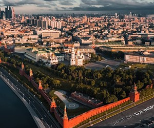 Moscow from above in 5K