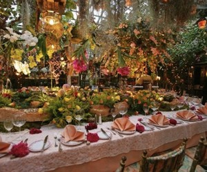 Garden Restaurant in France
