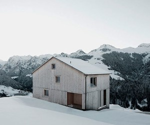German Snow Home on the Mountainside