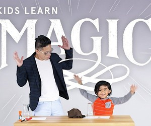 Nash Fung teaches the kids a great trick