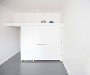 Fitted kitchen for a one-room apartment