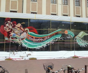 "Nychos Mural ""Dissection Of The Little Mermaid"""