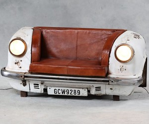 Vintage car becomes a sofa