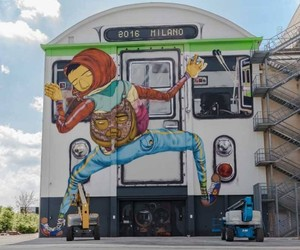 Os Gemeos Turned Building into Giant Train