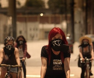 The female biker gang Ovarian Psycos from L.A.