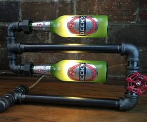 Steampunk Beer Bottle Lamp