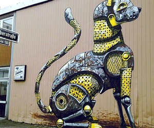 Streetart: Pixel Pancho Murals in Düsseldorf
