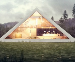 Pyramid House Concept and Renderings