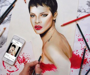 Photorealistic drawings with crayons and paper